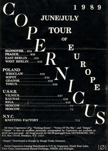 Copernicus Tour of Europe Poster 6/15/1989