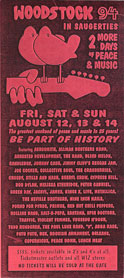 Woodstock flyer 8/12/1994